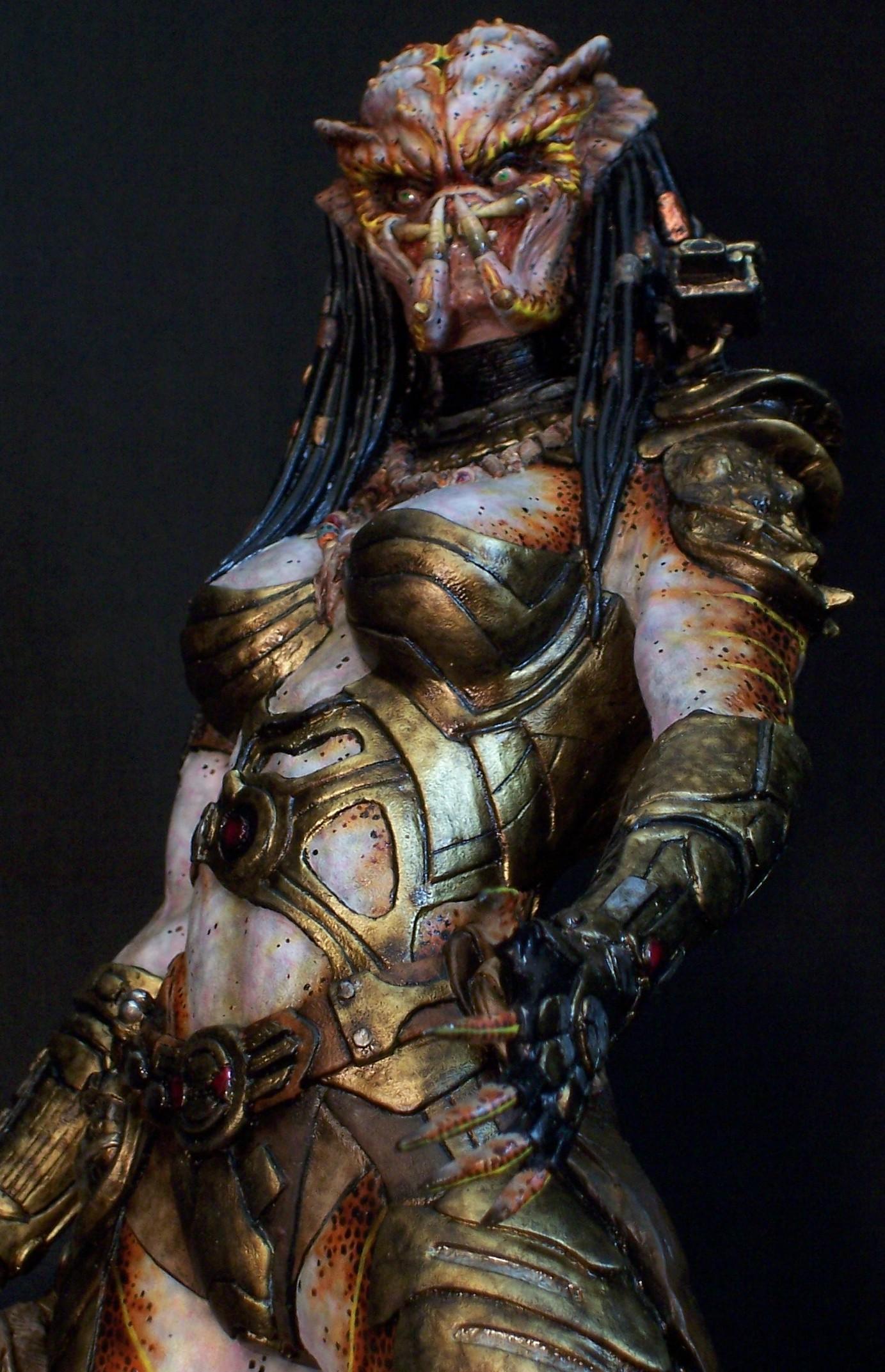 Joe Dunaway: Model Kit Buildups » Female Predator hunter ... Werewolf Warrior Art